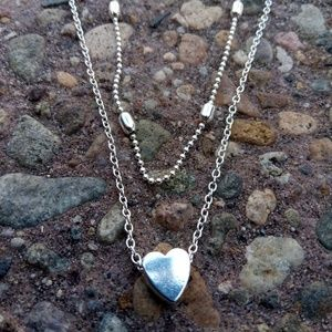 Sale! Silver Necklaces 2 for$40